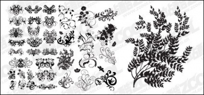 Free vector Vector flower  Number of practical elements of vector pattern material