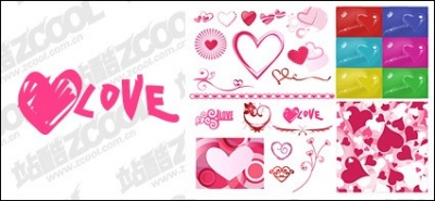 Free vector Vector Heart  Number of Valentine's Day heart-shaped elements of vector material