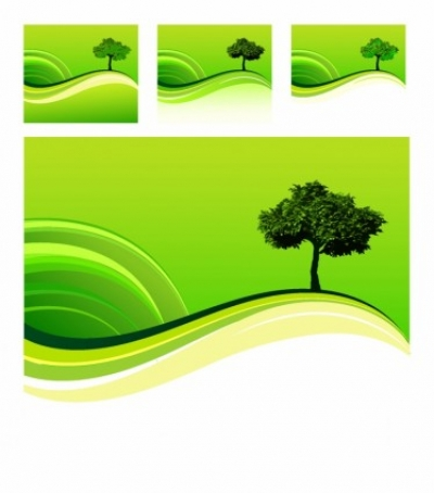 Free vector Vector landscape  One tree hill