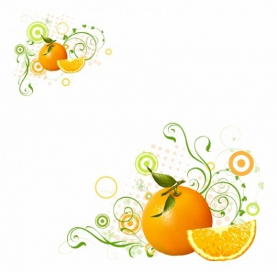 Free vector Vector misc  Orange fruit and swirls