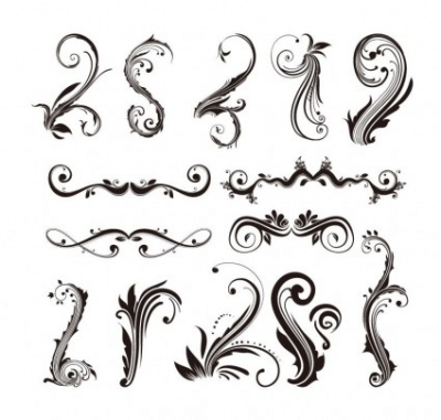 Free vector Vector misc  Ornament Design Elements Vector Set