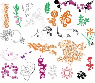Free vector Vector flower  Ornaments Vector Collection