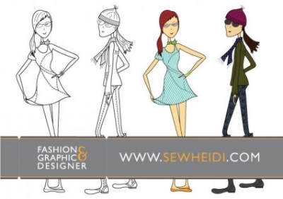 Free vector Vector misc  Outfitted Female Fashion Sketch Vectors