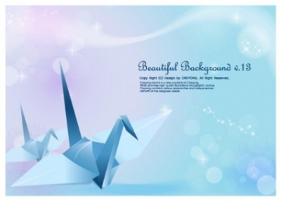 Free vector Vector background  paper cranes and vector fantasy background