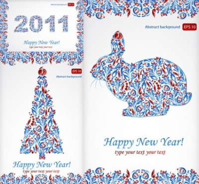 Free vector Vector pattern  particular pattern and happy new year 2011 christmas vector