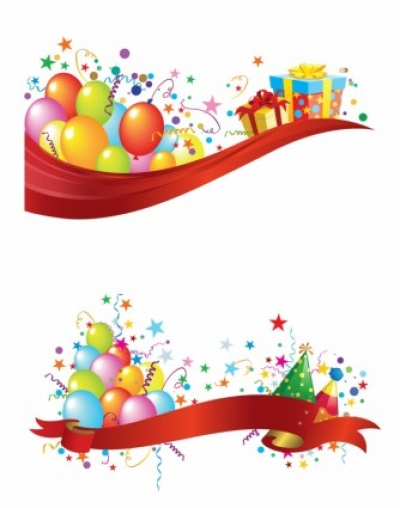 Free vector Vector misc  Party header and footer