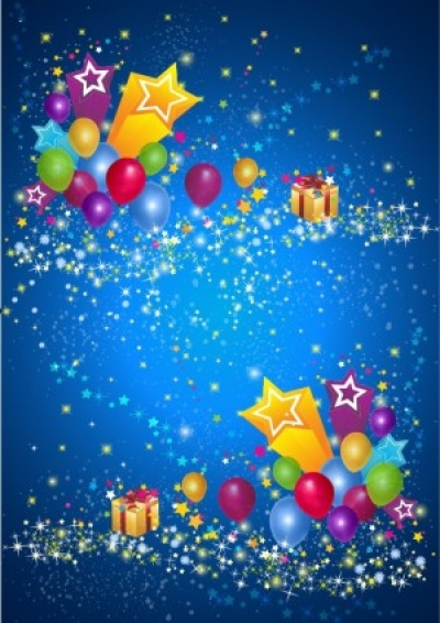 Free vector Vector background  Party Star and Balloon Background