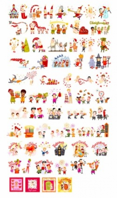 Free vector Vector misc  penstyle festive element vector