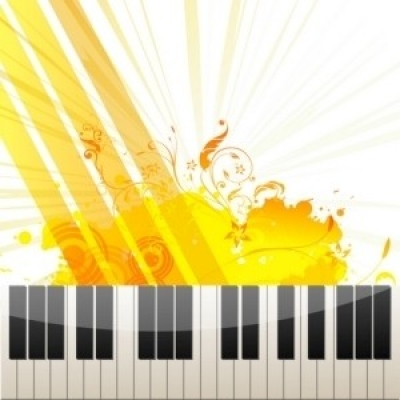 Free vector Vector abstract  Piano Keys on Abstract Background