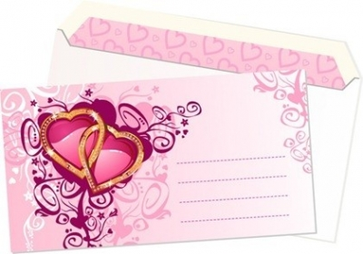Free vector Vector pattern  Pink heart-shaped pattern envelope vector material