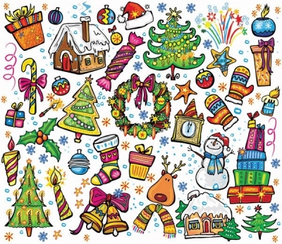 Pink lovely christmas element vector Free vector 1.18MB