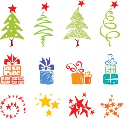 Free vector Vector Christmas  pink lovely christmas element vector 2