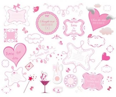 Free vector Vector misc  pink romantic elements vector