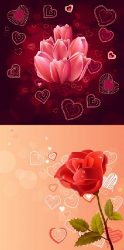 Free vector Vector misc  pink roses red roses vector
