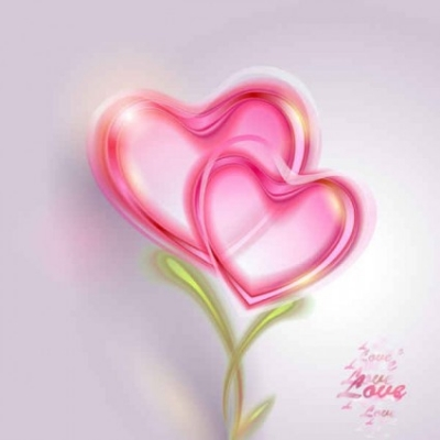 Free vector Vector background  Pink Valentine card Vector Background