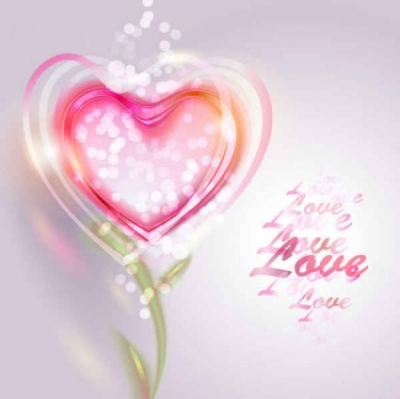 Free vector Vector background  Pink Valentine Love Vector Background