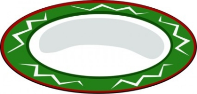 Free vector Vector clip art  Plate, green with red trim