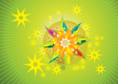 Free vector Vector flower  Psychedelic Flowers
