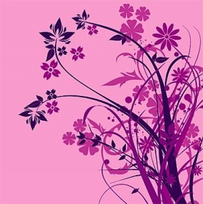 Free vector Vector flower  purple flower silhouette vector fashion