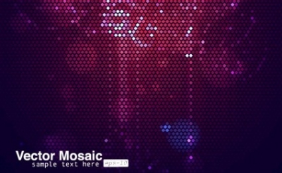 Free vector Vector background  Purple Mosaic Background