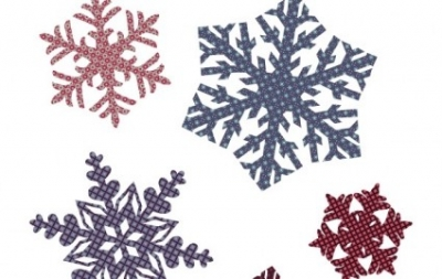 Free vector Vector misc  Quilted Snowflakes