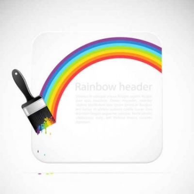 Free vector Vector background  Rainbow Vector Background