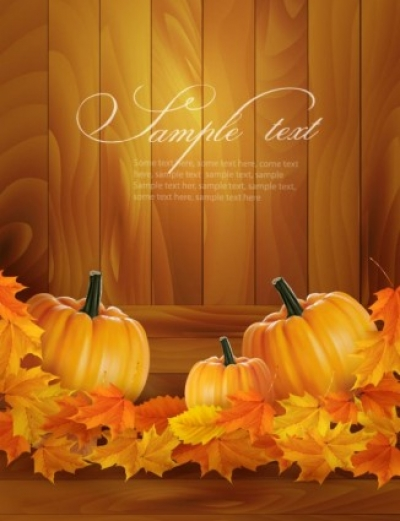 Free vector Vector trust to nature  realistic pumpkin card 01 vector