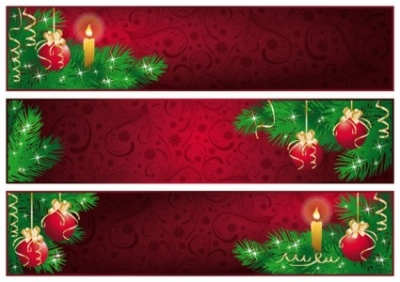 Free vector Vector banner  red christmas banner vector