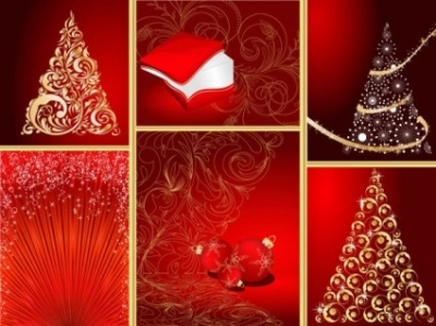 Free vector Vector Christmas  red christmas graphic elements vector