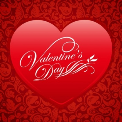 Free vector Vector background  Red Floral Heart Valentine Vector Background