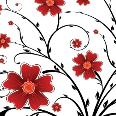 Free vector Vector floral  Red Flower Floral Background Vector Graphics