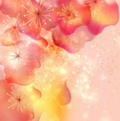 Free vector Vector background  Red Flowers with Pink Background