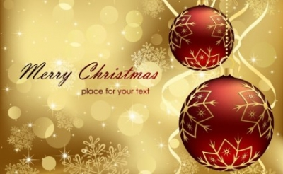 Free vector Vector Christmas  Red Gold Christmas Background