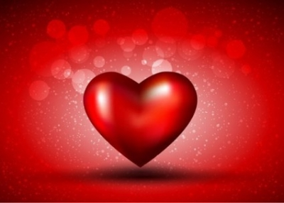 Free vector Vector Heart  Red Heart on Bokeh Background