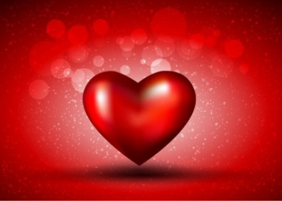 Free vector Vector background  Red Heart on Bokeh Background Vector Graphic
