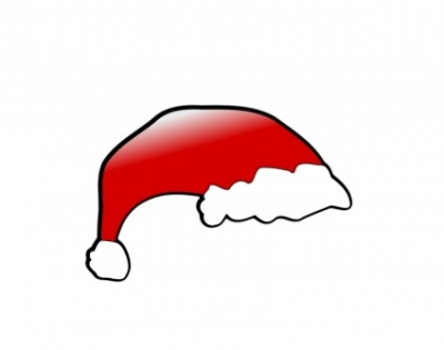 Free vector Vector clip art  red santa claus hat