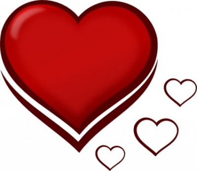 Free vector Vector clip art  Red Stylised Heart With Smaller Hearts clip art