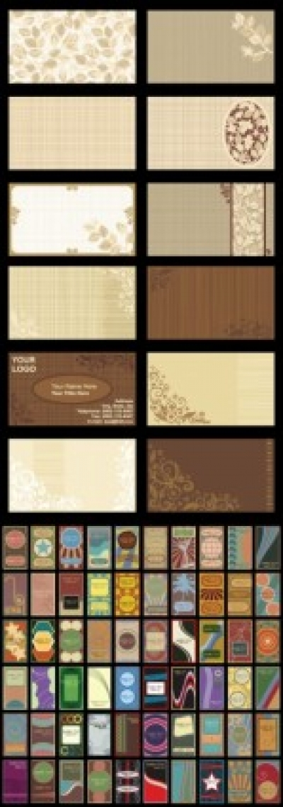 Free vector Vector background  retro background card template vector