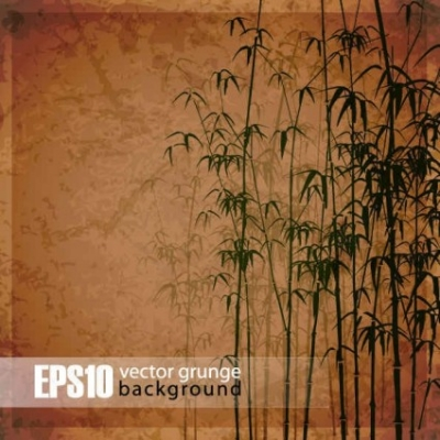 Free vector Vector background  Retro bamboo forest background