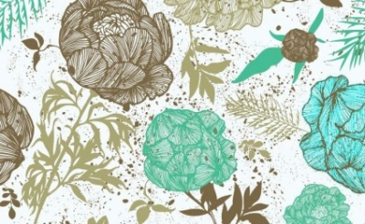 Free vector Vector pattern  Retro Floral Pattern