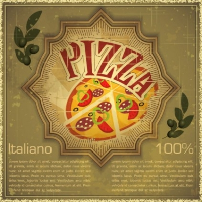 Free vector Vector background  retro pizza background vector