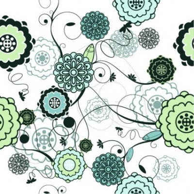 Free vector Vector background  Retro Seamless Floral Background Vector Illustration
