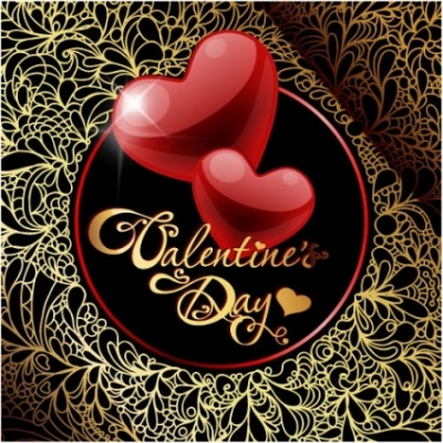 Free vector Vector Heart  retro valentine's day greeting card 01 vector