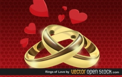 Free vector Vector Heart  Rings Of Love
