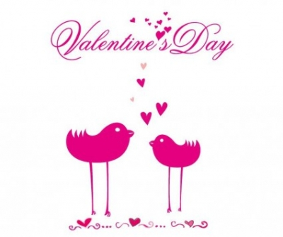 Free vector Vector misc  Romantic Card with Birds in Love