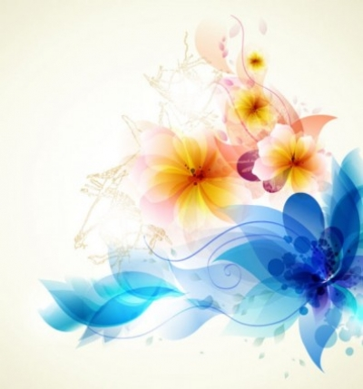 Free vector Vector flower  romantic flower background 01 vector