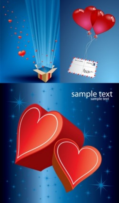 Free vector Vector Heart  romantic gift of love vector