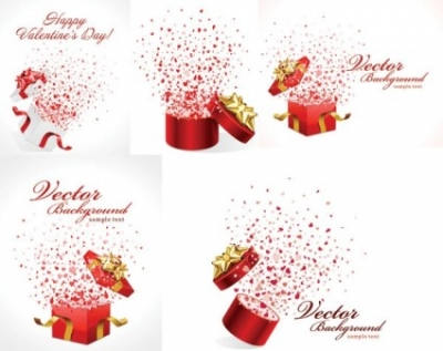 Free vector Vector misc  romantic gift opening moments vector