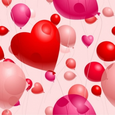 Free vector Vector Heart  Romantic Heart-Shaped Balloons Valentine's Day Vector Illustration