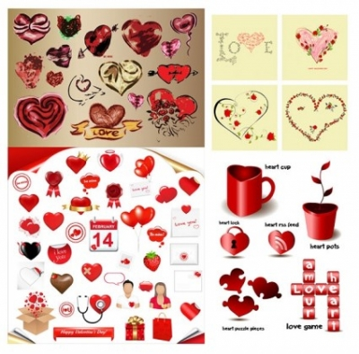 Free vector Vector Heart  romantic heartshaped element vector